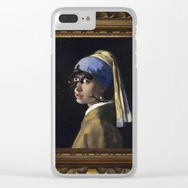 Borg with a Pearl Earring Clear iPhone Case