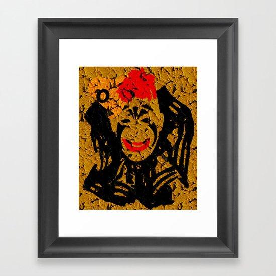 Laugh, Clown, Laugh! (Lon Chaney) Framed Art Print