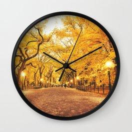New York City Autumn Wall Clock