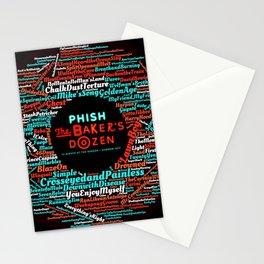 PHISH THE BAKERS DOZEN TOUR DATES 2020 ASAMJAWA Stationery Cards
