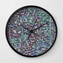 Map Collection: Medieval City Wall Clock