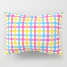 Queer Plaids - Pansexual Gingham Pillow Sham