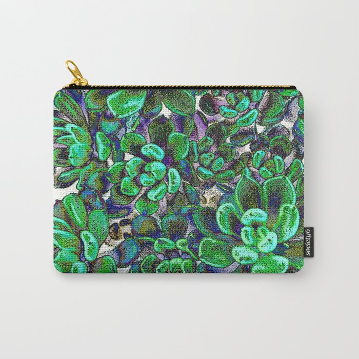 Floral tribute [green] Carry-All Pouch