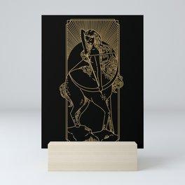 Sagitarius - Gold Zodiac  Mini Art Print