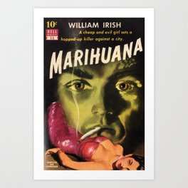 Black and White Reefer Madness Movie Poster Art Print