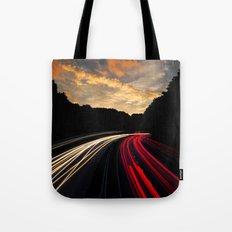 timelapse car red Tote Bag