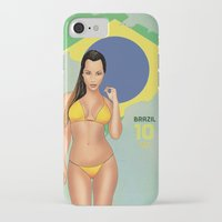 brazil iPhone & iPod Cases featuring Brazil by Kingdom Of Calm - Print On Demand