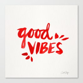 Good Vibes – Red Ink Canvas Print