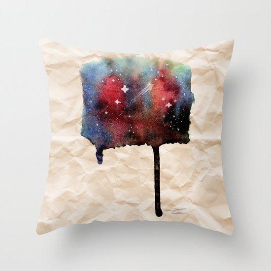 Little Nebula Watercolor Throw Pillow