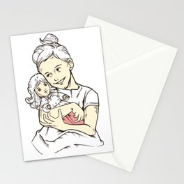 Vintage Girl And Doll Stationery Cards