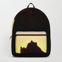 Seaside Sunset behind the wharf remains Backpack