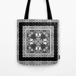 Black and white ornament Tote Bag
