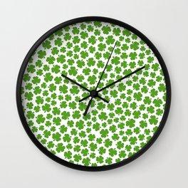 Shamrockadelic Wall Clock
