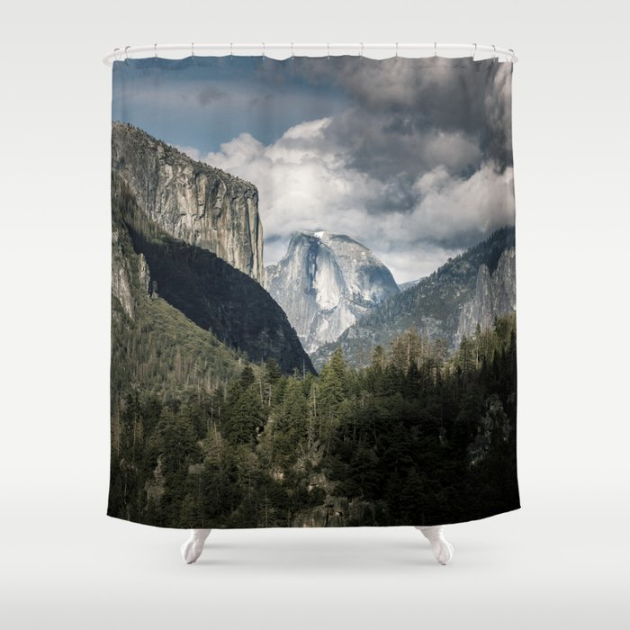 Half Dome Clouds - Yosemite National Park Shower Curtain