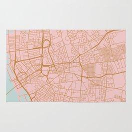 Liverpool map, UK Rug