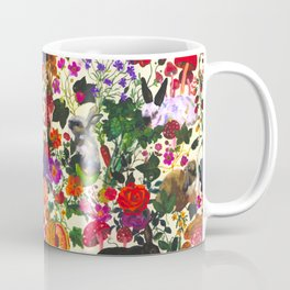 Vintage Butterfly Rabbit Garden Floral Watercolor Coffee Mug