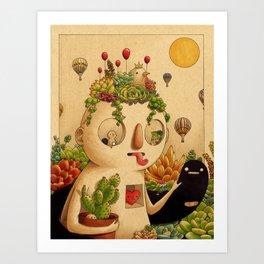 Succulent Man Art Print