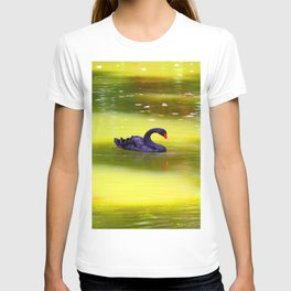 Swan In The Pond 2 ... By LadyShalene T-shirt