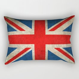 Old and Worn Distressed Vintage Union Jack Flag Rectangular Pillow