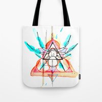 mother Tote Bags featuring MOTHER by SLEEP MUSCLE