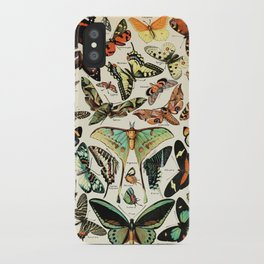 Papillon I Vintage French Butterfly Charts by Adolphe Millot iPhone Case