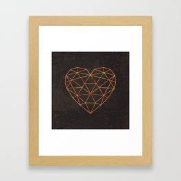 COPPER HEART Framed Art Print