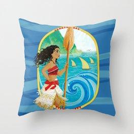 Explorer of the sea Throw Pillow