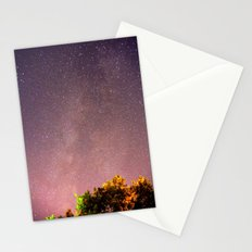 Meteors near the Milky Way II Stationery Cards