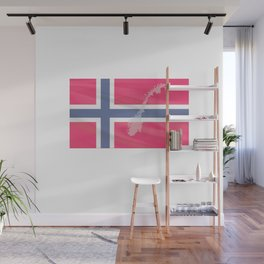 only to Norway Fjord Team Fishingtour Friends Vacation Wall Mural