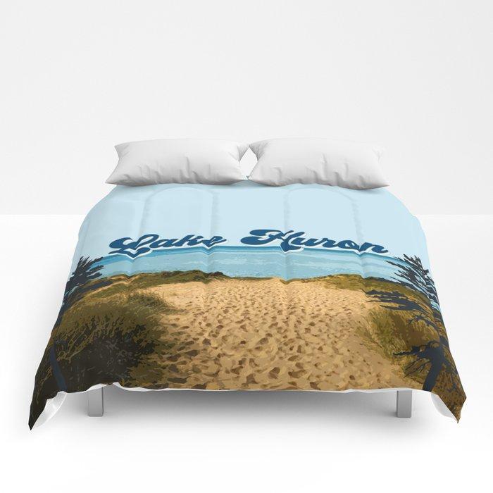 Lake Huron Retro Comforters