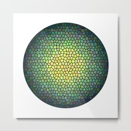 Green Sphere (Stained Glass) Metal Print