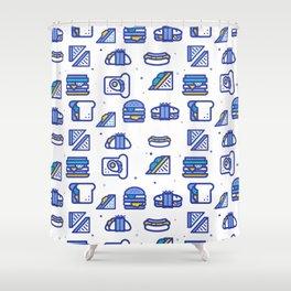 Sandwiches Shower Curtain