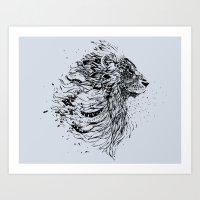 leo Art Prints featuring Leo by Daniac Design