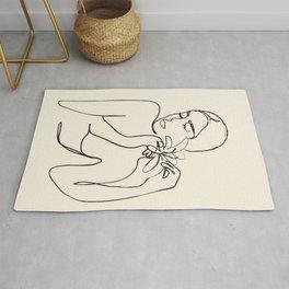 Minimalist Abstract Woman III Rug