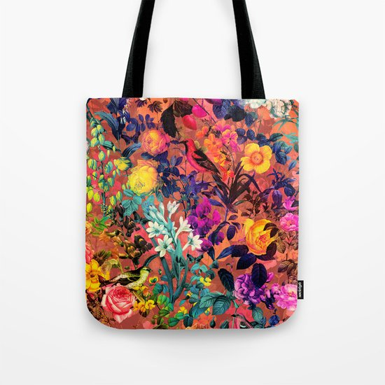 Floral and Birds II Tote Bag