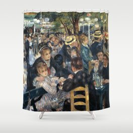 Auguste Renoir -Bal du moulin de la galette, Dance at Le moulin de la Galette Shower Curtain