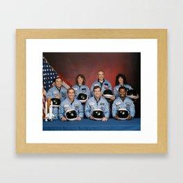 Space Shuttle Challenger Crew, November 1985 Framed Art Print