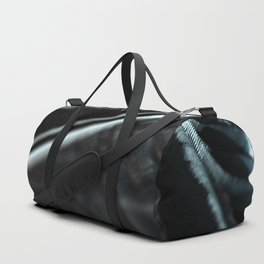 Abstract technology field metalic landscape intricate pattern close up graphic retro background Duffle Bag