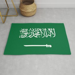 National flag of  the Kingdom of Saudi Arabia - Authentic version to scale and color Rug