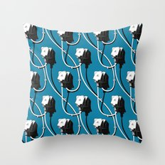 Wired. Blue Throw Pillow