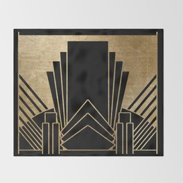 Art deco design Throw Blanket