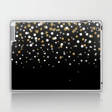 Pretty modern girly faux gold glitter confetti ombre illustration Laptop & iPad Skin