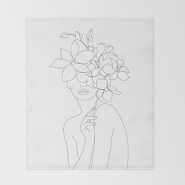 Lady Orchidea Throw Blanket