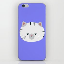 Black and White tiger cat iPhone Skin