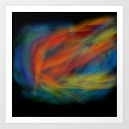 Galaxy Flame Art Print