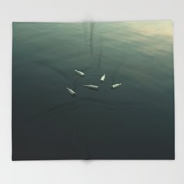 Floating still life Throw Blanket