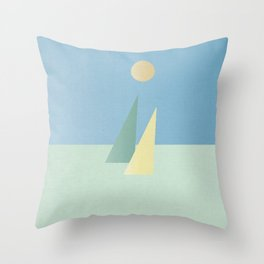 Minimalist sails Throw Pillow