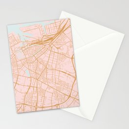 Malmo map, Sweden Stationery Cards