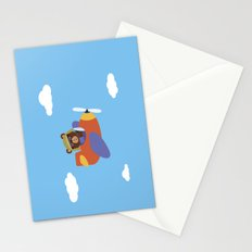 Bear in Airplane Stationery Cards