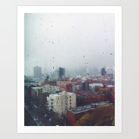 City Rain Art Print